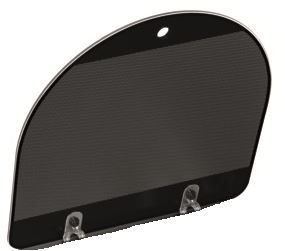 (101) Dometic Spare HSG 3430 H Series Style Glass Lid For SINK Side Of Unit [Colour: Black Bi-Colour] (105 31 03-84)