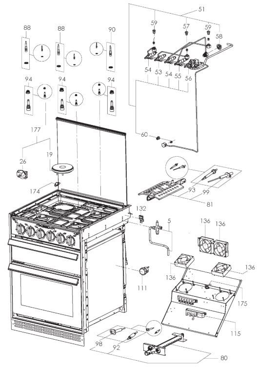 CU600 Series Dual Fuel Cooker (9102305048)