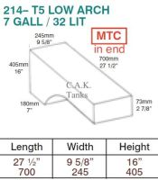 CAK-214 CAK Tanks Volkswagen T5 & T6 32 Litre LOW Wheelarch Water Tank