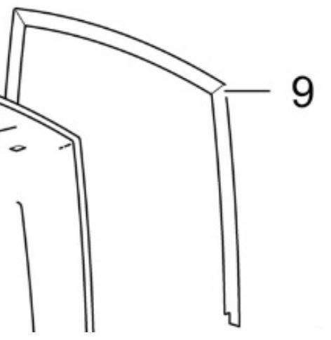 (009) Thetford Spare C260S Series Toilet to Wall Seal [Colour: White/Grey] (9342862)
