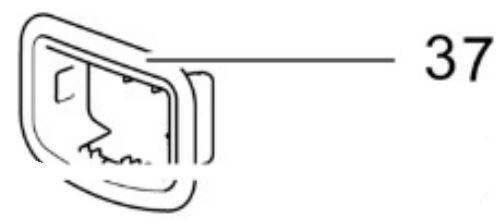(037) Thetford Spare C260S Series Control Panel Wall Box [Colour: White/Grey] (9342762)