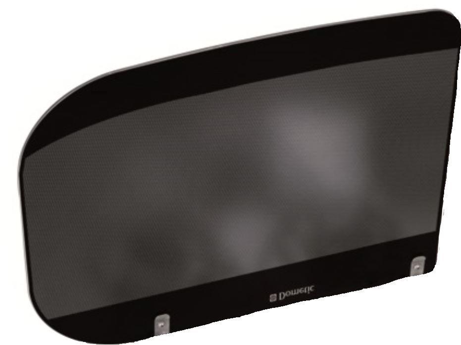 (100) Dometic Spare HSG 3436 Glass Lid For HOB Side of Unit [Colour: Black Bi-Colour] (105 31 35-94)