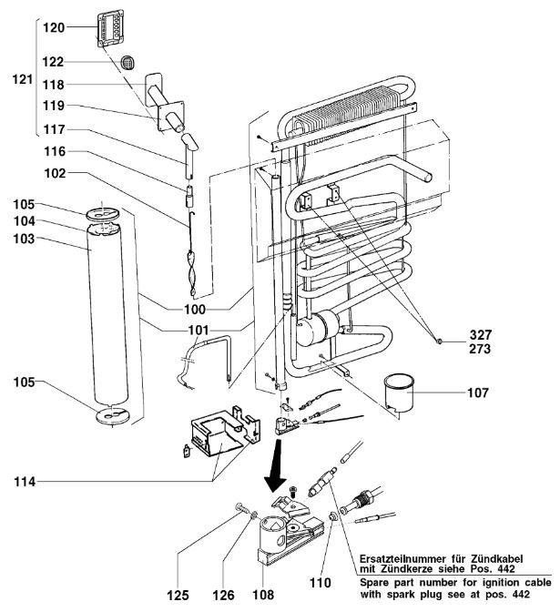 Electrolux_RM4281_Fridge_Freezer_C10_Cooling_Unit