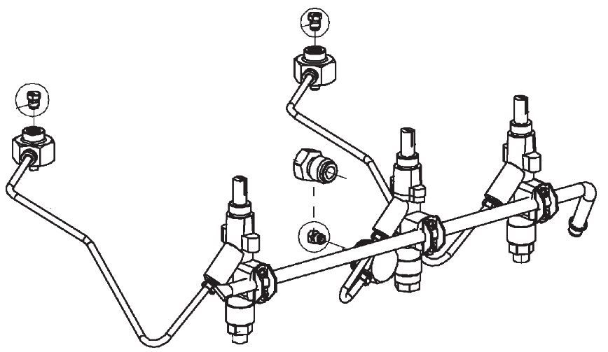 (051) Dometic SMEV Spare PI1242 & PI1262 Complete Gas Assembly (inc. Burner Nozzels) (105 31 07-41)