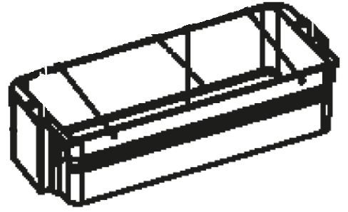 (051) Dometic WAECO Spare CR(X)-80 Lower Door Bin [Colour: White] (4450 00