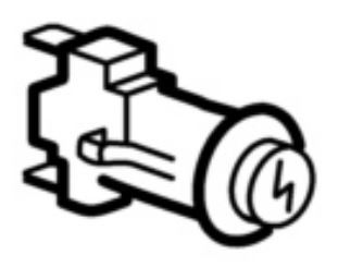 (006A) THETFORD Spinflo Spare Duplex Round 12 Volt Ignition Switch (SSPA0380)