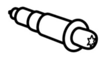 (006C) THETFORD Spinflo Spare Duplex Round Piezo Ignition Switch (SSPA0382)