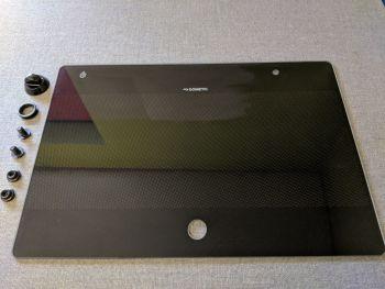 (101,104) SMEV Spare MO9722L Glass Lid For HOB Side (BLACK) Left Hand Sink Unit (105 31 35-02)