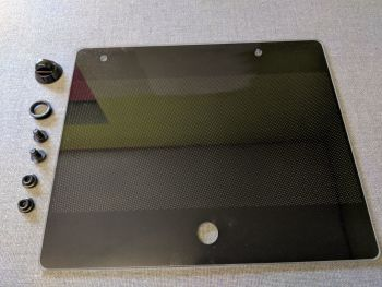 (101,104) SMEV Spare MO9722R Glass Lid For SINK Side (BLACK) Right Hand Sink Unit (105 31 27-94)