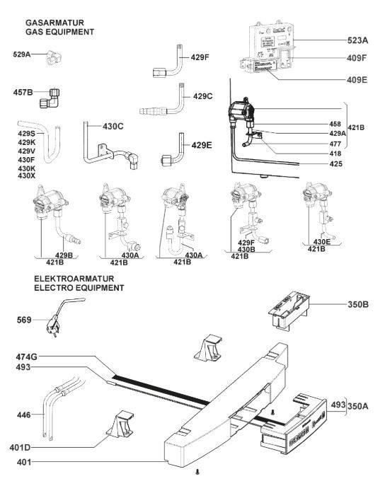 RM8505 Armature & Gas Assembly