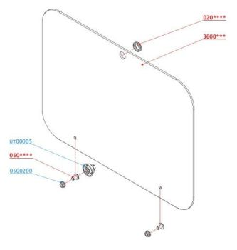 (100) SMEV Spare PI8023 / PI8003 Replacement Glass Lid (BLACK) (105 31 06-84)