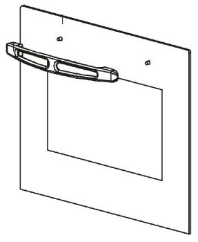 (040) Dometic SMEV Spare OF300 Series Outer Glass For Oven Door w/ Handle [Colour: Mirrored] (105 31 17-75)