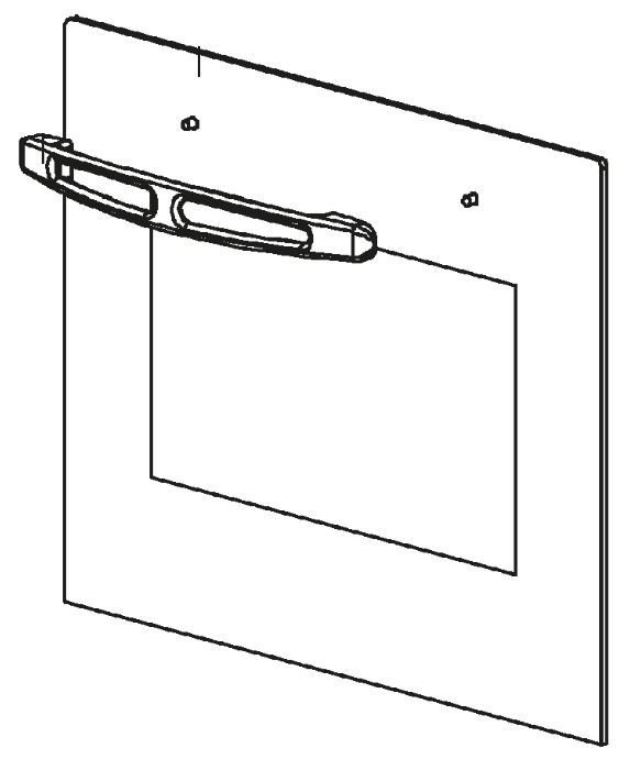 (040) Dometic SMEV Spare OF300 Series Outer Glass For Oven Door w/ Handle [