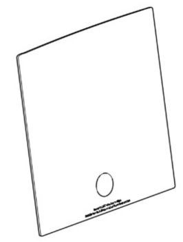(001) THETFORD Spinflo Spare Triplex Replacement Glass Lid [Colour: Solid Black] (SSPA0242.SBK)