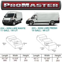 CAK-LWBRAMPRO Fresh & Waste Water Tanks For Dodge & RAM Promaster LWB Models D.I.Y. Installation Kit Van to Campervan (Free USA Delivery)