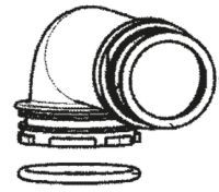 (015G) Dometic Spare CTS & CTW Series Cassette Toilet Replacement Discharge Spout and Seal (242 60 14-87)