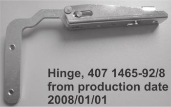 (026B) Dometic Spare CMBOGDSV Tec-Tower Oven Hinge Universal Left & Right (1pcs) (407 14 65-92) 01-01-2008 ONWARDS ONLY