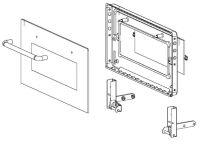 (031) Dometic Spare OG2000 Oven Door Complete w/ Hinges (105 31 28-80)
