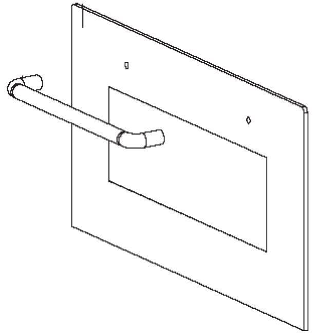 (040) Dometic Spare OG2000 Series Oven Mirror Glass Door w/ Handle (105 31