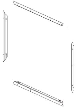 (120) Dometic SMEV Spare OG2000 & FO200 Series External Fixing Frame Complete TOP, BOTTOM, LEFT & RIGHT (105 31 02-00)