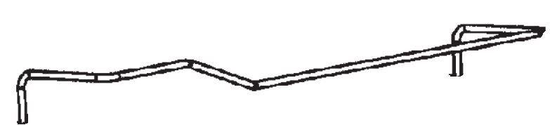 (036) Dometic Spare RM7650 Series Bottle Retainer For Fridge Door Shelf [Finish: Chrome] (241 21 04-13)