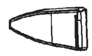 (003) Dometic Spare RM7650 Series Fridge Door Bin Divider [Colour: White] (241 20 84-00)
