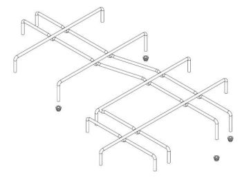 (016A) Dometic SMEV Spare PI0913 Pan Support Grid [Finish: Chromed Steel] (105 31 02-49)