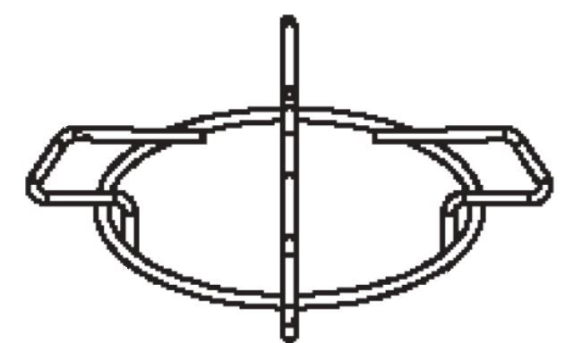 (017) Dometic SMEV Spare MO9722 Large Pan Support [Finish: Black Enamel] (1