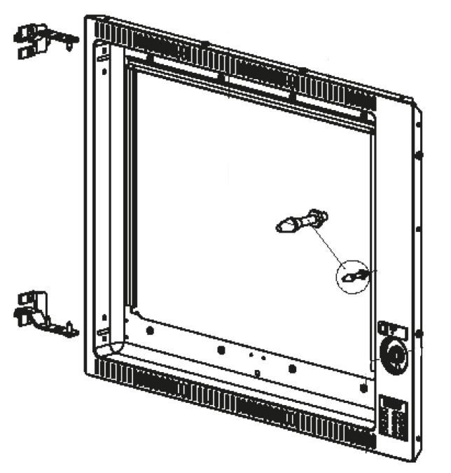 (063) Dometic SMEV Spare FO300 Side Hinge 30 Litre Oven Front Fascia w/ Hinges (105 31 22-83)