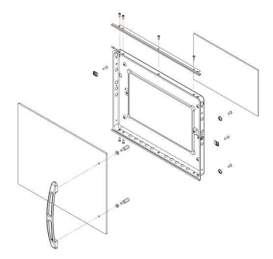 (031) Dometic SMEV Spare FO300 Side Hinge 30 Litre Oven Complete Door Assembly (105 31 02-70)