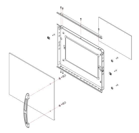 (031) Dometic SMEV Spare FO300 Side Hinge 30 Litre Oven Complete Door Assem