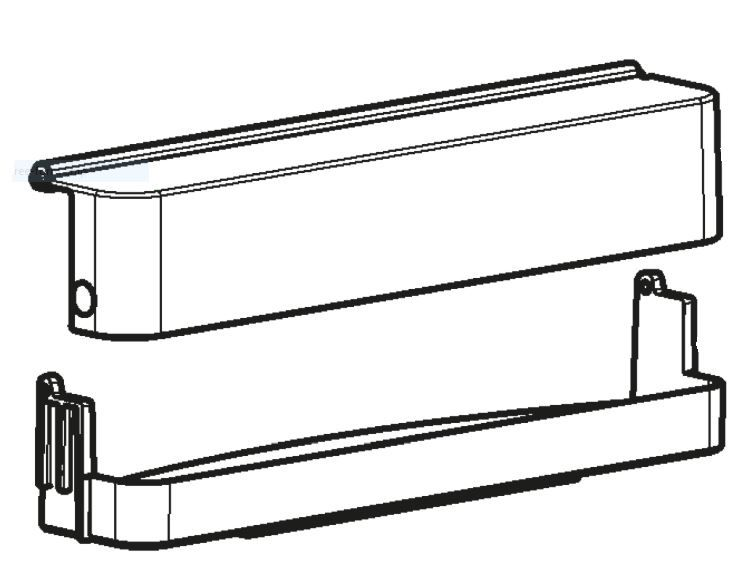 (066B) Dometic Spare RM8500 Series Upper Door Shelf With Cover (289 02 35-2