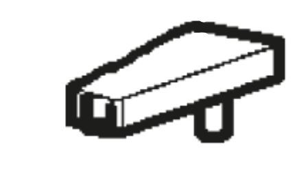 (214A) Dometic Spare RM8550 Series Door Latch Button [Left Doorhang Version] (241 32 60-22)