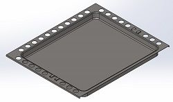 (083) Dometic SMEV Spare CU300 Series Replacement Roasting Tray [Finish: Black Enameled] (105 31 04-73)
