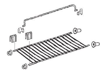 (229A) Dometic Electrolux Spare RM6200 Series Large Fridge Shelf w/ Brackets [Finish: Zinc Plated] (241 32 22-60)