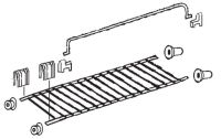 (229A) Dometic Electrolux Spare RM6200 Series Small Fridge Shelf w/ Brackets [Finish: Zinc Plated] (241 32 22-50)