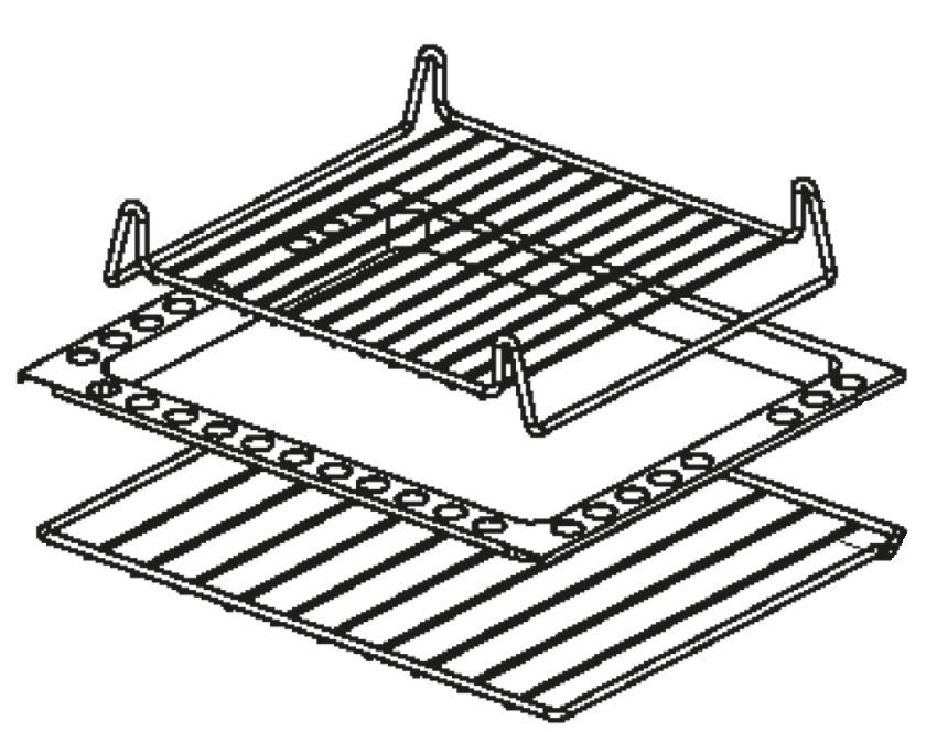 (082) Dometic SMEV Spare CU400 & CU600 Series [Oven Shelf] [Trivet Rack] [Roasting Tray] Complete Set (105 31 16-74)