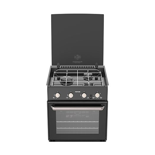 THETFORD Triplex Cooker 3 Burner, Grill & Oven w/ Glass Lid & 12 Volt Ignition (SOH70998-SP)