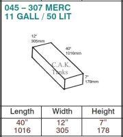 045 - MERC 307 - 50 Litre [11 Gallon] Water Tank