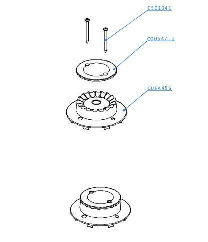 (010) Dometic SMEV Spare CU433 Marine Cooker 45mm Burner Kit w/ Ignition (105 31 02-03)