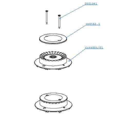 (011) Dometic SMEV Spare CU433 Marine Cooker 60mm Burner Kit w/ Ignition (105 31 02-05)