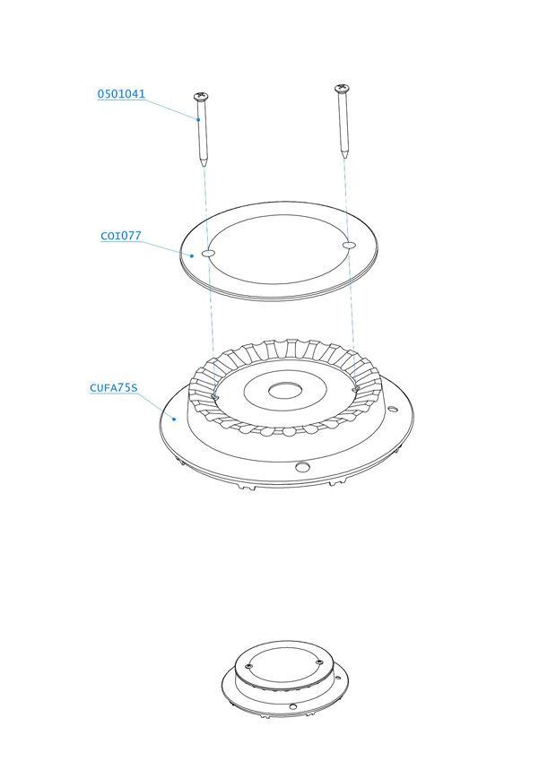 (012) Dometic SMEV Spare CU433 Marine Cooker 75mm Burner Kit w/ Ignition (105 31 02-06)