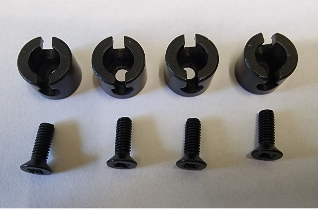 (005) THETFORD Spinflo Spare Aspire 1 & 2 Pan Support Grommets w/ Screws [4pcs] (SSPA0041)