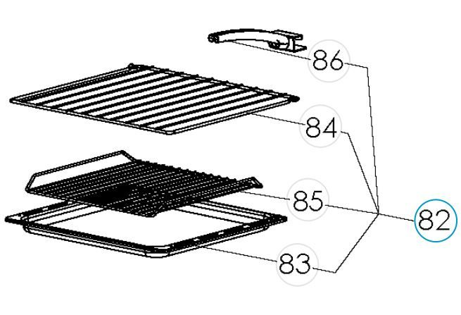 (082) Dometic SMEV Spare CU600 Series Baking Tray / Grill Pan Assembly (105 31 28-21)