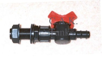"""DTN2 """"Nut In"""" Drain Tap For 13mm (1/2"""") PVC Hose (1/2"""") BSP Nut"""