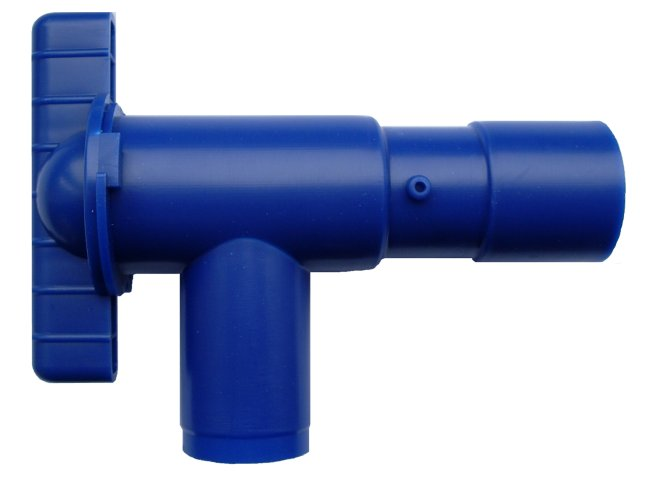 WD8532B Blue 28mm Fresh Drain Tap for Push-Fit Rigid Pipe