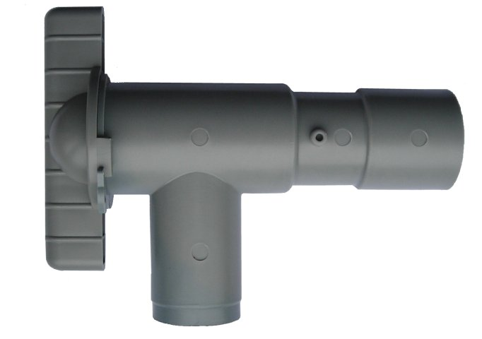 WD8532G Grey 28mm Fresh Drain Tap for Push-Fit Rigid Pipe