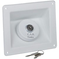 F80RW 40mm Square Reccessed Water Filler White