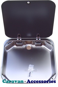S8010 Dometic SMEV 8010 Drainer Unit With Black Glass Lid
