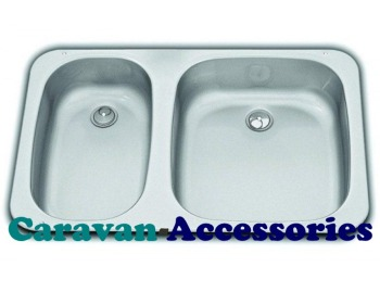 S0945 Dometic SMEV 945 Double Sink Unit Stainless Steel